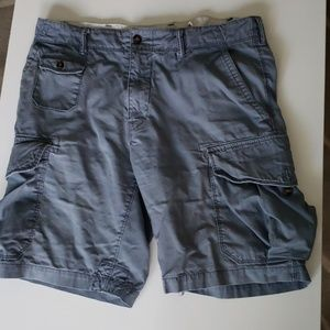 A pair of steel shorts